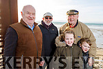 Jimmy Browne, Sean O'Connor, Patrick Sheehan, Niamh and Noah McCarthy enjoying the Ballyheigue Races on New Years Day.