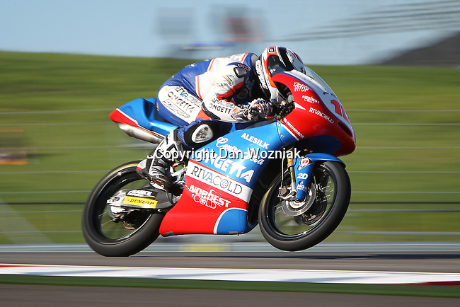 Alexis Masbou (10) in action during the Red Bull MotoGP of the Americas practice session at Circuit of the Americas racetrack in Austin,Texas. ..