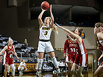 SIOUX FALLS, SD - MARCH 7: Kadie Deaton #3 of the North Dakota State Bison shoots against the Denver Pioneers during the Summit League Basketball Tournament at the Sanford Pentagon in Sioux Falls, SD. (Photo by Dave Eggen/Inertia)