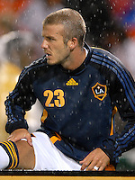 Los Angeles Galaxy midfielder David Beckham (23) warming up before entering the game. DC United defeated the Los Angeles Galaxy 1-0 at RFK Stadium in Washington DC, Thursday August 9, 2007.
