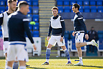 St Johnstone v Clyde…17.04.21   McDiarmid Park   Scottish Cup<br />James Brown and Scott Tanser pictured during the warm-up<br />Picture by Graeme Hart.<br />Copyright Perthshire Picture Agency<br />Tel: 01738 623350  Mobile: 07990 594431