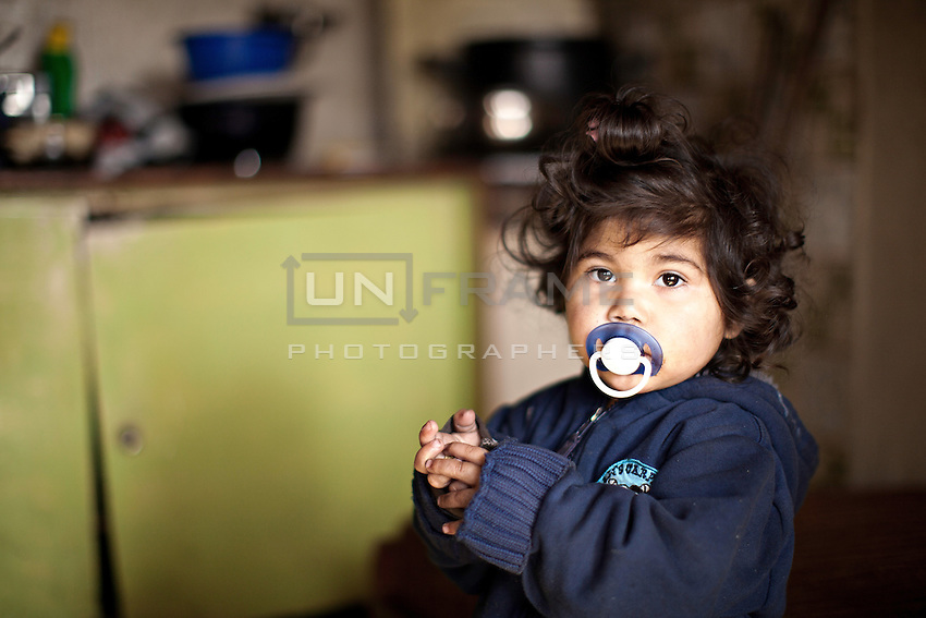 The residence of Lunik IX, a young Roma girl inside her apartment.