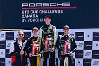 Race 2, Porsche Canada Platinum Podium, #79 Mark Motors Racing, Porsche 991 / 2019, GT3CP: Roman DeAngelis, #3 SCB Racing, Porsche 991 / 2017, GT3CP: Parker Thompson, #77 Lauzon Autosport, Porsche 991 / 2017, GT3CP: Patrick Dussault