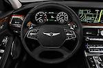 Car pictures of steering wheel view of a 2018 Genesis G90 Ultimate 4 Door Sedan Steering Wheel