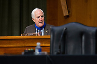 United States Senator John Cornyn (Republican of Texas) speaks during the United States Senate Committee on Finance hearing regarding the inspection process of foreign drug manufacturing on Capitol Hill in Washington D.C., U.S., on Tuesday, June 2, 2020.  Credit: Stefani Reynolds / CNP/AdMedia