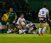 1st October 2021;  The Sportsground, Galway, Ireland; United Rugby Championships, Connacht versus Bulls; Zak Burger (Vodacom Bulls) plays the ball out