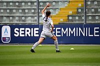 Sarah Madison Solow of Hellas Verona warms up in front of a Serie A femminile banner during the women Serie A football match between US Sassuolo and Hellas Verona at Enzo Ricci stadium in Sassuolo (Italy), November 15th, 2020. Photo Andrea Staccioli / Insidefoto