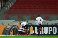 10nd June 2021; Beira-Rio Stadium, Porto Alegre, Brazil; Copa do Brazil, Internacional versus Vitoria; Samuel of Vitória celebrates his goal in the 70th minute for 0-1