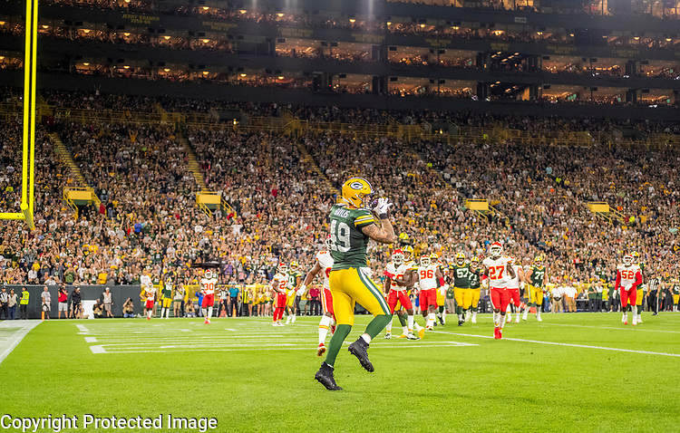 Green Bay Packers against the Kansas City Chiefs during a preseason game at Lambeau Field in Green Bay on Thursday, August 29, 2018.