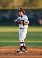 Braden River Pirates second baseman Dylan McGarry (6) during a game against the Venice Indians on February 25, 2021 at Braden River High School in Bradenton, Florida. (Mike Janes/Four Seam Images)