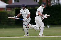 Harold Wood add to their total during Brentwood CC (bowling) vs Harold Wood CC, Hamro Foundation Essex League Cricket at The Old County Ground on 12th June 2021