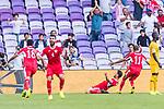 Anas Bani-Yaseen of Jordan celebrates scoring the goal during the AFC Asian Cup UAE 2019 Group B match between Australia (AUS) and Jordan (JOR) at Hazza Bin Zayed Stadium on 06 January 2019 in Al Ain, United Arab Emirates. Photo by Marcio Rodrigo Machado / Power Sport Images