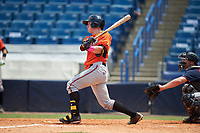 Luke Berryhill (13) of River Ridge High School in Canton, Georgia playing for the Baltimore Orioles scout team during the East Coast Pro Showcase on July 30, 2015 at George M. Steinbrenner Field in Tampa, Florida.  (Mike Janes/Four Seam Images)