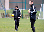 St Johnstone Training....30.04.21<br />Manager Callum Davidson pictured with coach Steven MacLean during training at McDiarmid Park ahead of tomorrows game at Hibs.<br />Picture by Graeme Hart.<br />Copyright Perthshire Picture Agency<br />Tel: 01738 623350  Mobile: 07990 594431