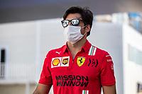 SAINZ Carlos (spa), Scuderia Ferrari SF21, portrait during the Formula 1 Azerbaijan Grand Prix 2021 from June 04 to 06, 2021 on the Baku City Circuit, in Baku, Azerbaijan <br /> FORMULA 1 : Grand Prix Azerbaijan <br /> 05/06/2021 <br /> Photo DPPI/Panoramic/Insidefoto <br /> ITALY ONLY