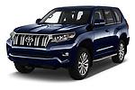2018 Toyota Landcruiser Premium 5 Door SUV angular front stock photos of front three quarter view