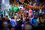"""© Joel Goodman - 07973 332324 . 22/08/2014 .  Manchester , UK . The scene on Canal Street as the evening wears on . Manchester Pride """" Big Weekend """" in Manchester's """" Gay Village """" today ( 22nd August 2014 ) . Photo credit : Joel Goodman"""