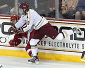 Jefferson Dahl (Wisconsin - 14), Michael Sit (BC - 18) - The Boston College Eagles defeated the visiting University of Wisconsin Badgers 9-2 on Friday, October 18, 2013, at Kelley Rink in Conte Forum in Chestnut Hill, Massachusetts.