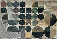 aerial photo map of pivot irrigation circles, Edwards County, Kansas.