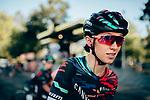 Katarzyna Niewiadoma (POL) Canyon-SRAM at sign on before the start of La Course 2019 By Le Tour running 121km from Pau to Pau, France. 19th July 2019.<br /> Picture: ASO/Thomas Maheux | Cyclefile<br /> All photos usage must carry mandatory copyright credit (© Cyclefile | ASO/Thomas Maheux)