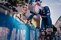 Alexys Brunel (FRA/FDJ-Groupama)<br /> <br /> MEN UNDER 23 INDIVIDUAL TIME TRIAL<br /> Hall-Wattens to Innsbruck: 27.8 km<br /> <br /> UCI 2018 Road World Championships<br /> Innsbruck - Tirol / Austria