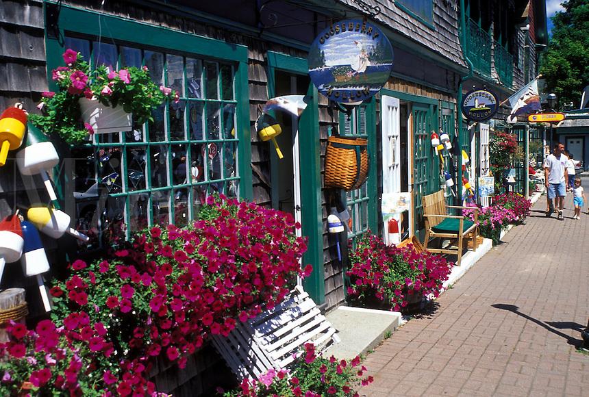 Bar Harbor, ME, Maine, Mount Desert Island, Gift shop in downtown Bar Harbor.