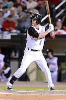 Rochester Red Wings second baseman James Beresford (2) during an International League playoff game against the Pawtucket Red Sox on September 5, 2013 at Frontier Field in Rochester, New York.  Pawtucket defeated Rochester 7-2.  (Mike Janes/Four Seam Images)