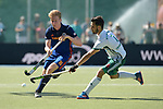 GER - Mannheim, Germany, May 27: During the men semi-final match between Uhlenhorst Muehlheim and Mannheimer HC at the Final4 tournament May 27, 2017 at Am Neckarkanal in Mannheim, Germany. (Photo by Dirk Markgraf / www.265-images.com) *** Local caption *** Luca Mueller #16 of Mannheimer HC