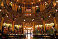 State Capitol, State House, Lansing, MI, Michigan, Interior of the Michigan State Capitol Building in the capital city of Lansing.