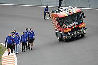 2nd September 2021: Circuit Zandvoort,  Zandvoort, Netherlands;    Mick Schumacher DEU 47 , Haas F1 Team goes with his engineers over the steep curve in front of the start finish line Formula 1 Heineken Dutch Grand Prix 2021, 13th round of the 2021 FIA Formula One World Championship