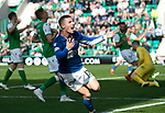 Hibs v St Johnstone….24.08.19      Easter Road     SPFL <br />Michael O'Halloran celebrates his goal<br />Picture by Graeme Hart. <br />Copyright Perthshire Picture Agency<br />Tel: 01738 623350  Mobile: 07990 594431