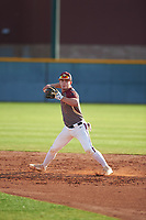 Alexander Maximus Briggs (1) of Canutillo High School in EL Paso, Texas during the Baseball Factory All-America Pre-Season Tournament, powered by Under Armour, on January 14, 2018 at Sloan Park Complex in Mesa, Arizona.  (Zachary Lucy/Four Seam Images)