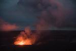 Glow Of Kilauea Volcano At Dusk