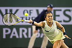 March 08, 2018: Zarina Diyas (KAZ) defeated by Serena Williams (USA) 7-5, 6-3 at the BNP Paribas Open played at the Indian Wells Tennis Garden in Indian Wells, California. ©Mal Taam/TennisClix/CSM