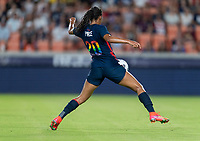 HOUSTON, TX - JUNE 13: Margaret Purce #20 of the USWNT controls the ball during a game between Jamaica and USWNT at BBVA Stadium on June 13, 2021 in Houston, Texas.