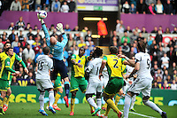 Swansea v Norwich, Liberty Stadium, Saturday 29th march 2014...<br /> <br /> <br /> Norwich's John Ruddy making a save