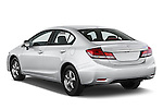 Car pictures of rear three quarter view of a 2015 Honda Civic Sedan NGV 2 Door  Angular Rear