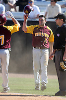March 7, 2010:  Second Baseman Ricky Clark (11) of the Central Michigan Chippewas during game at Jay Bergman Field in Orlando, FL.  Central Michigan defeated Central Florida by the score of 7-4.  Photo By Mike Janes/Four Seam Images