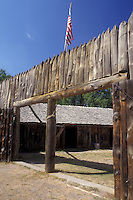 AJ0447, North Dakota, Fort Mandan Historic Site in Washburn. Lewis & Clark Winter Quarters 1804-1805.