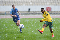 20190227 - LARNACA , CYPRUS South African midfielder Refiloe Jane ttpictured during a women's soccer game between the South African Banyana Banyana and Finland , on Wednesday 27 February 2019 at the GSZ Stadium in Larnaca , Cyprus . This is the first game in group A for both teams during the Cyprus Womens Cup 2019 , a prestigious women soccer tournament as a preparation on the Uefa Women's Euro 2021 qualification duels and the Fifa World Cup France 2019. PHOTO SPORTPIX.BE | STIJN AUDOOREN