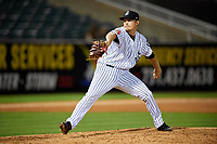 Jackson Generals relief pitcher Gabe Speier (33) delivers a pitch during a game against the Chattanooga Lookouts on April 27, 2017 at The Ballpark at Jackson in Jackson, Tennessee.  Chattanooga defeated Jackson 5-4.  (Mike Janes/Four Seam Images)