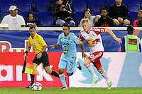 Harrison, NJ - Thursday Sept. 15, 2016: Danny Torres Angel, Justin Bilyeu during a CONCACAF Champions League match between the New York Red Bulls and Alianza FC at Red Bull Arena.