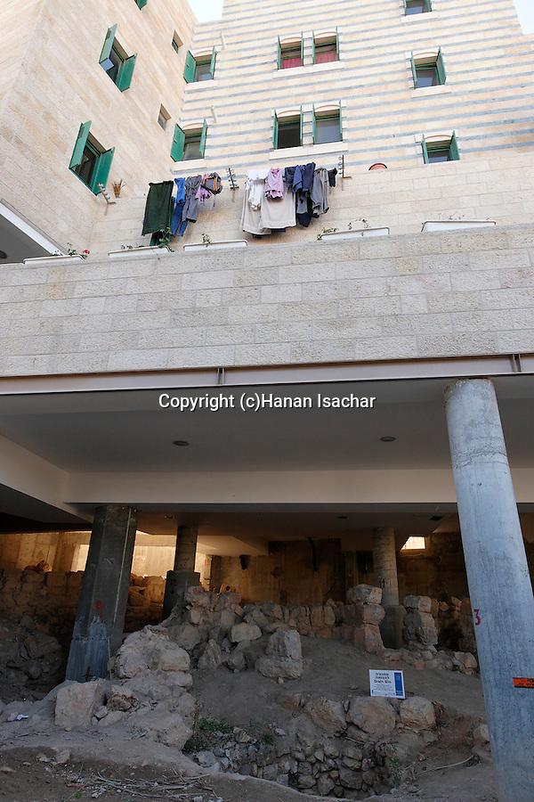 Judea, Hebron Mountain. The archeological site at Tel Rumeida