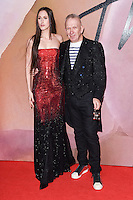 Anna Cleveland and Jean Paul Gaultier<br /> at the Fashion Awards 2016, Royal Albert Hall, London.<br /> <br /> <br /> ©Ash Knotek  D3210  05/12/2016