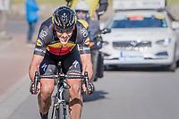 60 kilometers in the attack, Philippe Gilbert (BEL/Quick Step floors) solo's towards the finish in Oudenaarde; a truly epic effort<br /> <br /> 101th Ronde Van Vlaanderen 2017 (1.UWT)<br /> 1day race: Antwerp › Oudenaarde - BEL (260km)