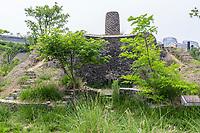 Suzhou, Jiangsu, China.  Ancient Unreconstructed Brick Kiln, Suzhou Museum of Imperial Kiln Brick.