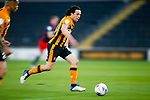 Hull City's George Honeyman runs with ball, a long exposure with motion blur. Hull 2 Sunderland 2, League One 20th April 2021.