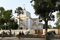 SENEGAL, Thies, catholic cathedral from french colonial time / katholische Kirche, Kathedrale im Stadtzentrum, aus der französischern Kolonialzeit