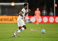 LAKE BUENA VISTA, FL - AUGUST 01: Jeremy Ebobisse #17 of the Portland Timbers dribbles the ball during a game between Portland Timbers and New York City FC at ESPN Wide World of Sports on August 01, 2020 in Lake Buena Vista, Florida.