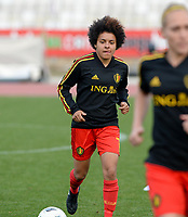 20180305 - LARNACA , CYPRUS :  Belgian Kassandra Missipo  pictured during a women's soccer game between  the Belgian Red Flames  and Austria , on Monday 5 March 2018 at the GSZ Stadium in Larnaca , Cyprus . This is the third game in group B for Belgium during the Cyprus Womens Cup , a prestigious women soccer tournament as a preparation on the World Cup 2019 qualification duels. PHOTO SPORTPIX.BE | DAVID CATRY